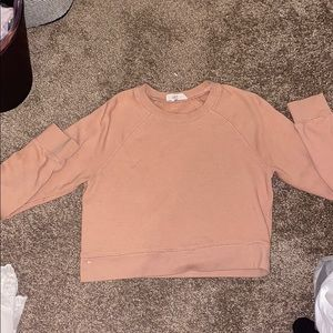 Pink, medium forever 21 cropped long sleeve.